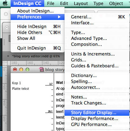 ArtikelEditor in InDesign