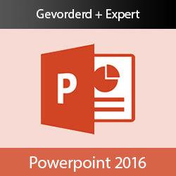 Online cursus PowerPoint 2016 Gevorderd + Expert