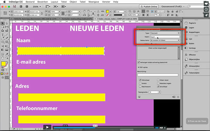 Cursus InDesign Formulieren maken. Je docent in deze InDesign cursus is Adobe Certified Expert. Opatel is Adobe Authorized Training Center