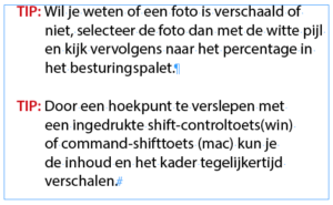 Koptekst in alineastijl in InDesign