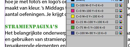 Letterkleur in Artikeleditor