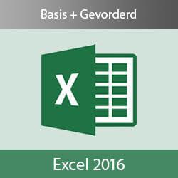 Online Excel 2016 cursus Basis en Gevorderd