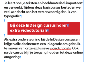 Alnea Arcering in InDesign
