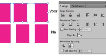 Horizontale ruimte verdelen InDesign