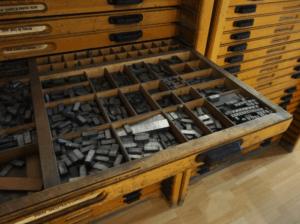 ladekast typografie