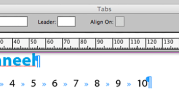 Tabs in InDesign