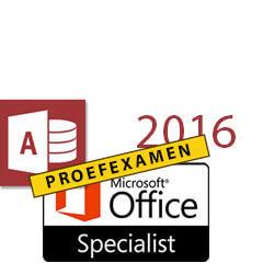 MOS proefexamen Access 2016