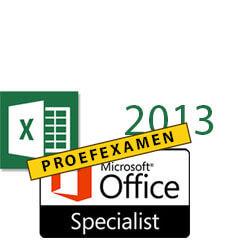 MOS proefexamen Excel 2013