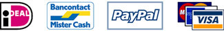 Betaal met iDeal, Mister Cash, PayPal of met je creditcard