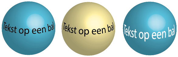 text on a ball illustrator
