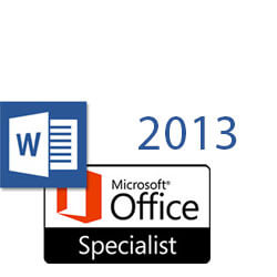 Word 2013 MOS Specialist
