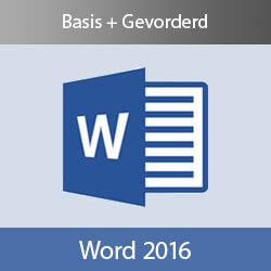Online cursus Word 2016 Basis en Gevorderd