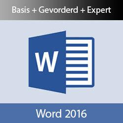Online cursus Word 2016 Basis Gevorderd Expert