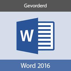 Online cursus Word 2016 Gevorderd