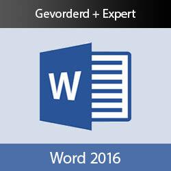 Online cursus Word 2016 Gevorderd + Expert